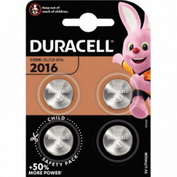 PILES BOUTON DURACELL 2016 x 4  5000394119314