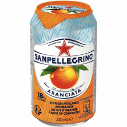 LOT DE 24 CANETTES 33CL SAN PELLEGRINO ORANGE