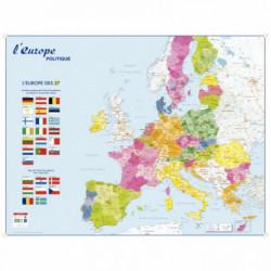 CARTE MURALE SOUPLE EUROPE MONDE 98x138 PAPSOUPLEUROPEMOND