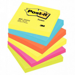 BLOC REPOSITIONNABLE *PQT6* POST-IT ENERGIE 76x76 ASS POSTIT 50021