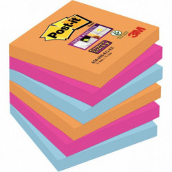 BLOC REPOSITIONNABLE**PQT6**SUPER STICKY POST-IT BANGKOK 76x76 MMBP830