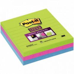 BLOCS POST-IT SUPER STICKY MARRAKECH 70 FLES ASS. 101x101 MM *PQT3* BP333