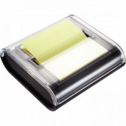 Dévidoir blanc livré avec bloc en Z jaune vif de 100 feuilles 76x76