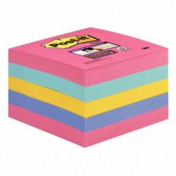 Cube Super Sticky Post-it®, couleurs assorties, 76 x 76 mm, 440 feuilles BP1015