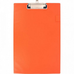 PLAQUE PORTE BLOC EN PLASTIQUE A4+ ORANGE