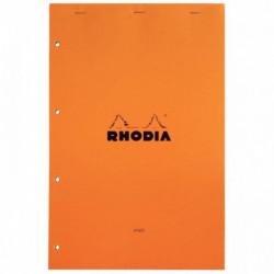 BLOC RHODIA N°20  PAPIER JAUNE LIGNE 80G A4+ 21x31,8 A4+   119660C