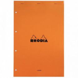 BLOC RHODIA N°20 LIGNE 80G A4+ 21x31,8 PERFORE 4 TROUS A4+  119600C