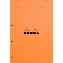 BLOC RHODIA N°20 M6249 5x5  80G 21x31,8 PERFORE 4 TROUS  A4+ *FAB FRANCE*    202