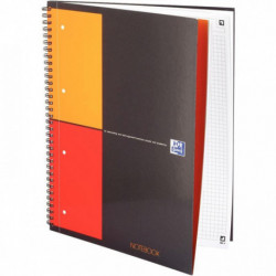 CAHIER NOTE-BOOK A4+ 80G 160P 5x5 SPIRALE *FAB FRANCE*OXFORD 100103664