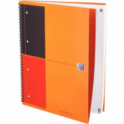 CAHIER NOTE-BOOK A4+ 80G 160P LIGNE SPIRALE  REF001202  *FAB FRANCE*OXFORD 1001