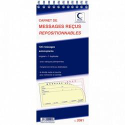 CARNET MESSAGES RECUS REPOSITIONNABLES AVEC DOUBLE ELVE 2091