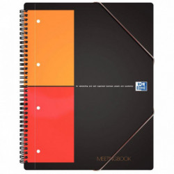 MEETING BOOK 5x5 100100362 CAHIER + CHEMISE A RABATS + ELASTIQUES OXFORD 1001003