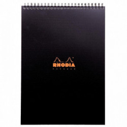 NOTEPAD RHODIACTIVE 90G REL INTEG A4 160 PAGES 5x5 MICROPERF. + POCHETTE 19920C