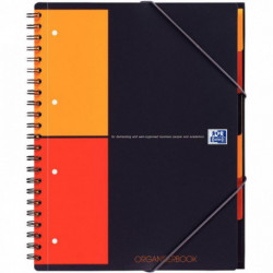 ORGANISER BOOK A4+ 80G 160 PAGES 4 TROUS 5x5 INTERC.+CHEMISE100102777 OXFORD 10