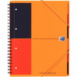 ORGANISER BOOK A4+ 80G 180 PAGES 4 TROUS LIGNE 6MM REF001802 100100462 OXFORD 10