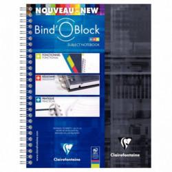 RELIURE INTÉGRALE BIND'O BLOCK A4+ 160 PAGES, QUADRILLÉ 5 X 5