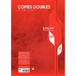 COPIES DBLES NON PERF. 21x29,7 70G 200 PAGES 5x5 CALLIGRA 2616C