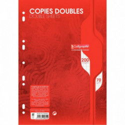 COPIES DBLES PERF. 2 UNIVERS. 21x29,7 70G 200 PAGES SEYES CALLIGRA 5615C