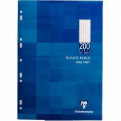 ETUI 100 FEUILLETS MOBILES, 200 PAGES, 21X29,7 CM, 5X5, BLANC