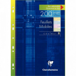 ETUI DE 100 FEUILLETS MOBILES (200 PAGES) FORMAT A4 SÉYÈS 90G COLORIS ASSORTIS