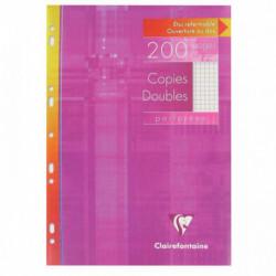 ETUI DE 50 COPIES DOUBLES PERFORÉES 21X29,7 CM, 5X5, BLANC