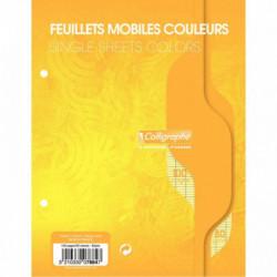 SACHET DE 50 FEUILLETS MOBILES (100 PAGES) FORMAT 17X22 CM SÉYÈS 80G COLORIS JAU