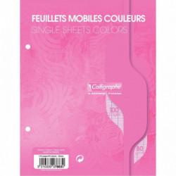 SACHET DE 50 FEUILLETS MOBILES (100 PAGES) FORMAT 17X22 CM SÉYÈS 80G COLORIS ROS