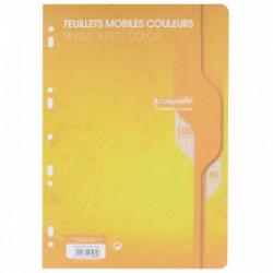 SACHET DE 50 FEUILLETS MOBILES (100 PAGES) FORMAT 21X29,7CM SÉYÈS 80G COLORIS JA