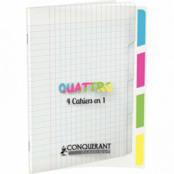 CAHIER 4 SECTIONS POLYPRO CONQ9 140 PAGES 17X22 90G TRANSLUCIDE OXFORD 400026