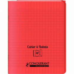 CAHIER A RABAT POLYPRO 17x22 48P 90G SEYES ROUGE