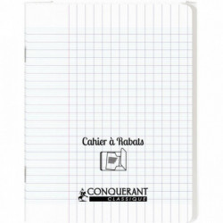 CAHIER A RABAT POLYPRO 17x22 96P 90G SEYES INCOLOR
