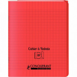 CAHIER A RABAT POLYPRO 17x22 96P 90G SEYES ROUGE