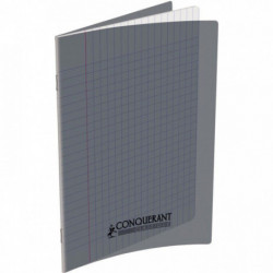 CAHIER POLYPRO GRIS 17x22 90G 48 PAGES SEYES CONQUERA 400013590
