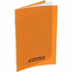 CAHIER POLYPRO ORANGE 17x22 90G 48 PAGES SEYES 100105471