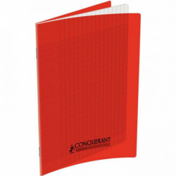 CAHIER POLYPRO ROUGE 17x22 90G 96 PAGES SEYES CONQUERA 100100434