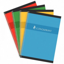 CAHIER RELIURE INTEGRALE 210x297 100P 70G SEYES *FAB FRANCE* CONQUERANT 100102