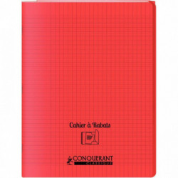 CAHIER A RABAT POLYPRO 24x32 48P 90G SEYES ROUGE