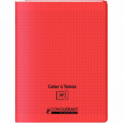 CAHIER A RABAT POLYPRO 24X32 96P 90G SEYES ROUGE