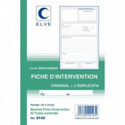 MANIFOLD FICHES D'INTERVENTIONS 50 TRIPLIS ELVE 2143 2143