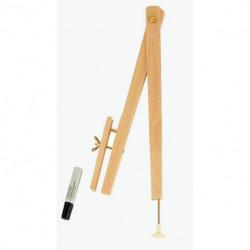 COMPAS A TABLEAU BOIS 40 cm TOUS FEUTRES A VENTOUSE FTA250141