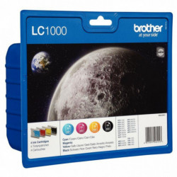 LC1000VALBP PACK 4 CARTOUCHES (NO/BL/JO/RO) HAUTE CAPACITE LC1000VALBP 4X700P