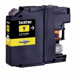 LC123Y CARTOUCHE JET ENCRE P/BROTHER LC123Y JAUNE 600 PAGES BROTHER