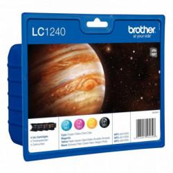 LC1240VALBP CARTOUCHE JE P/BROTHER PACK 4 CARTOUCHES (NOIR + COULEUR) 4 x 600 P