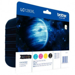 LC1280XLVALBP CARTOUCHE JE P/BROTHER PACK 4 CARTOUCHES 2400 PAGES + (3x1200) P