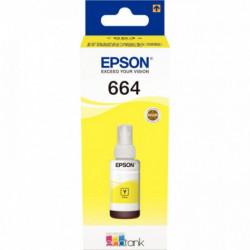 C13T664440 CART P/EPSON ECOTANK T6644 BOUTEILLE D'ENCRE JAUNE 70ML 6500P EPSON