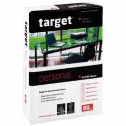 PAPIER **R500F**BLANC 80G DE FORMAT A4 TARGET PERSONAL ecolabel/fsc cie171