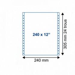 LISTING PRÉ IMPRIMÉ 12'x240 mm CARTIN 2000 1+0 70G BLANC BCDMP 242071