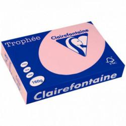 PAQUET DE 250 FEUILLES DE PAPIER 160G DE FORMAT A4 ROSE TROPHEE CLAIREFONTAINE