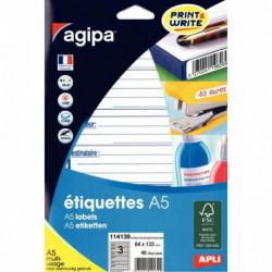 ÉTIQUETTES EXPÉDITION 64X133 BTE 48 AGIPA 114139