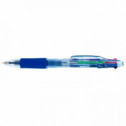 STYLO BILLE 4 COULEURS POINTE 0,7MM